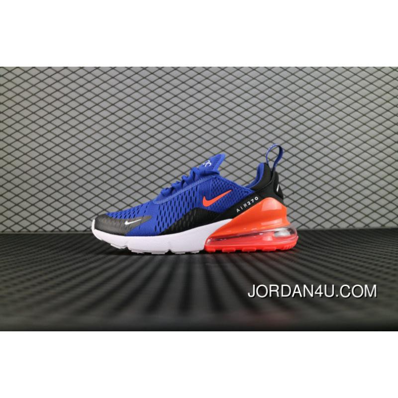 Nike Air Max 270 Flyknit Royal Blue Jacihth Ah8050 460 Running Shoes For Sale