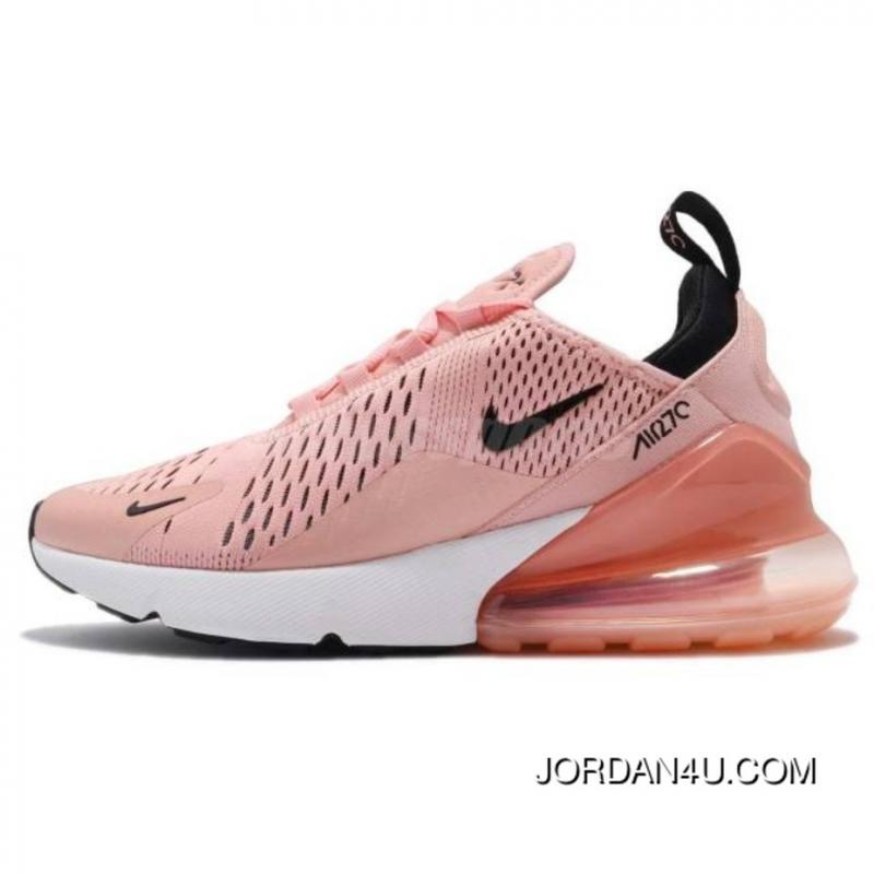 c9908b5593cc Womens Nike Air Max 270 Shoes Coral Stardust Black-Summit White Ah6789-600  ...