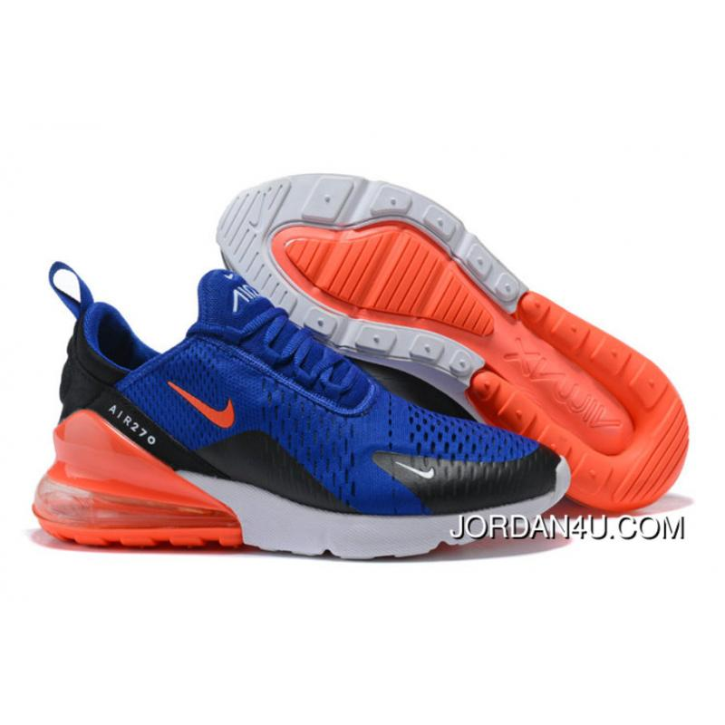 outlet store b786a ea621 Nike Air 270 Nike Air Max 270 Orange Royal Blue Black White Outlet ...