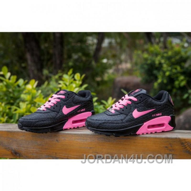 official photos 6b0ea 8730a Women Nike Air Max 90 Black Pink Shoes Lastest AFfrerr ...